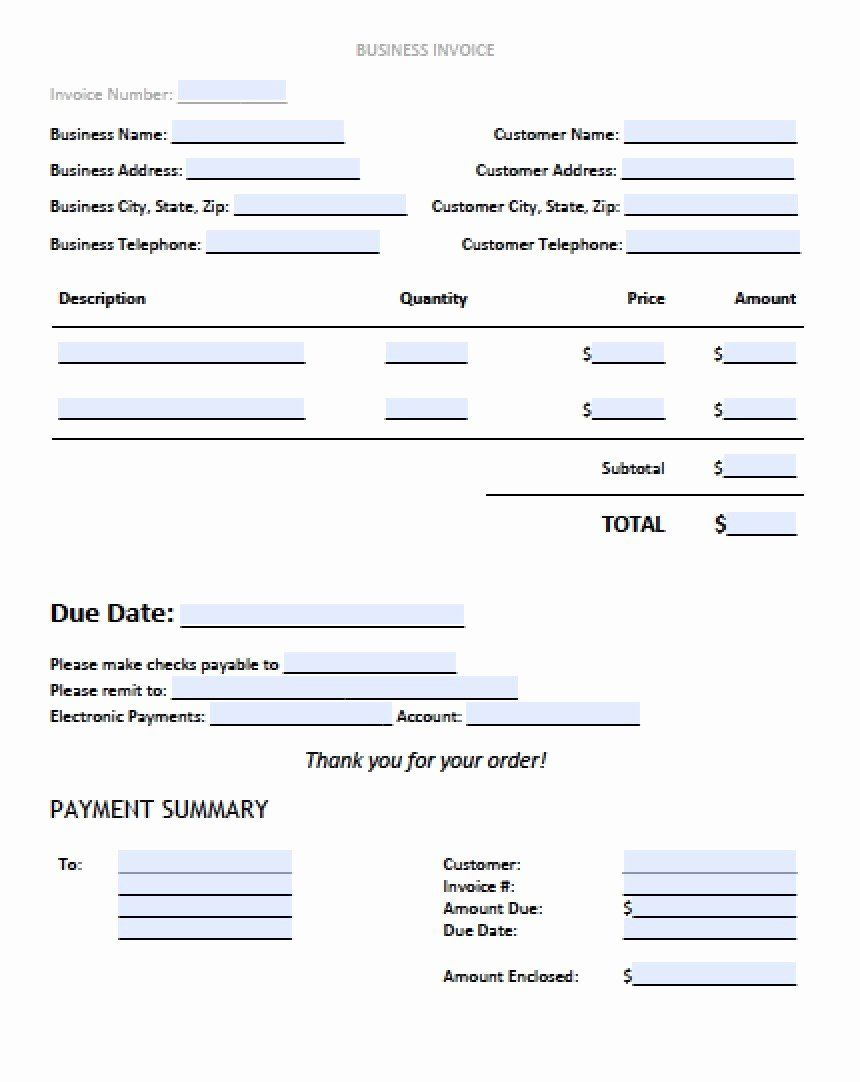 Free Excel Invoice Template Awesome Sample Business