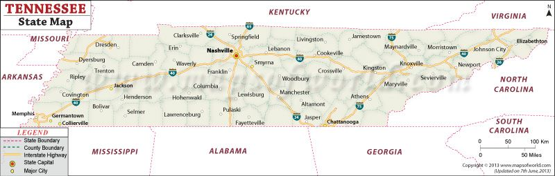 State Map Of Tennessee Jolley Places Tennessee State Map