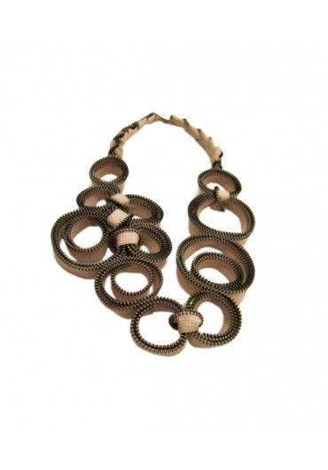 Love this Designer. Super cleaver zipper jewelry.