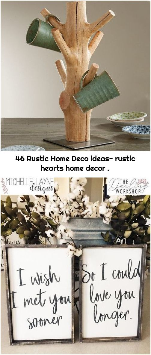 46 Rustic Home Deco ideas- rustic hearts home decor .