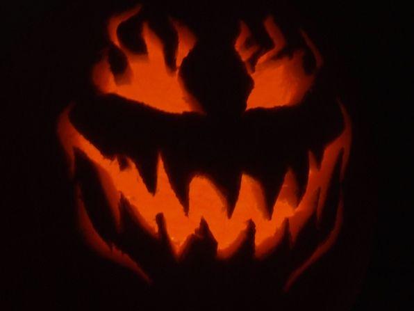 evil pumpkin stencil