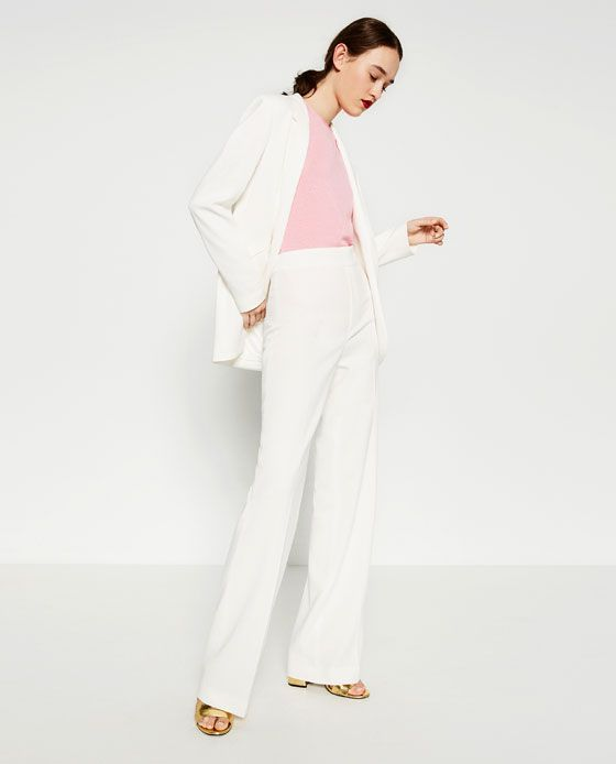 50d5022417fd73 Image 1 of STRAIGHT LEG FLOWING TROUSERS from Zara | SPRING/SUMMER ...