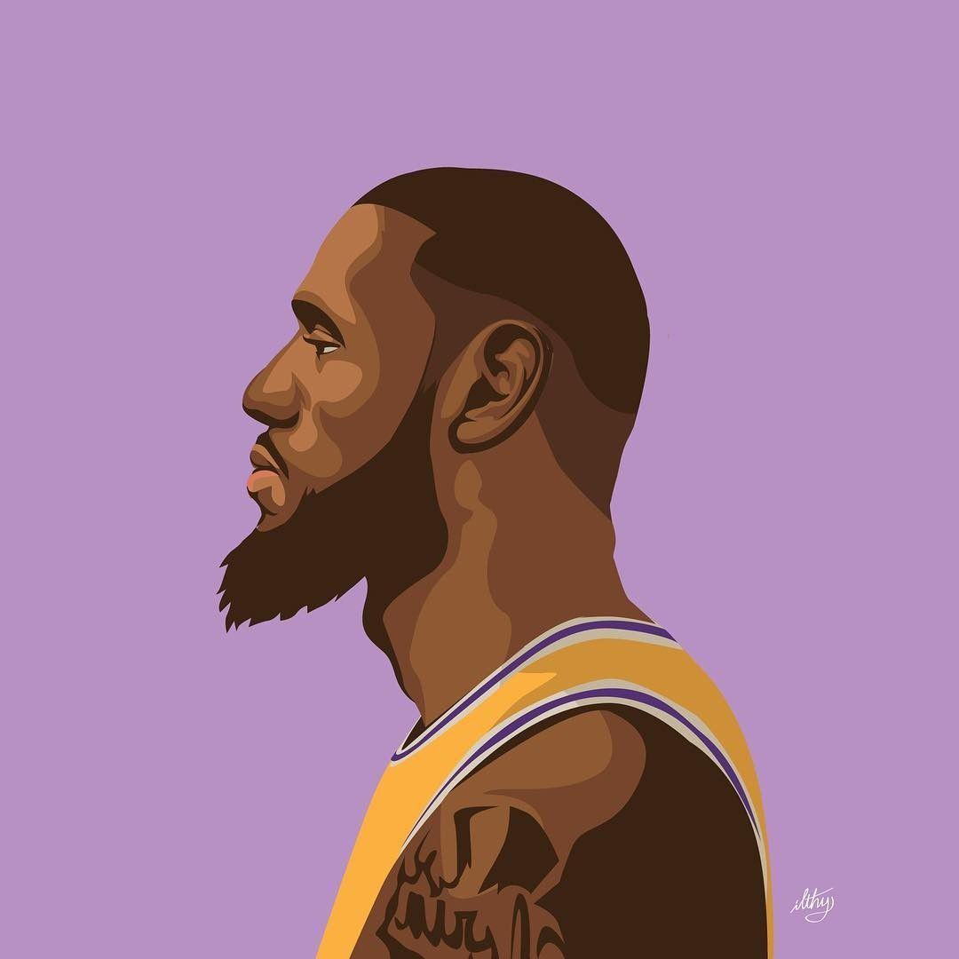 La Bron Lebron James Lakers Lebron James Wallpapers Basketball Drawings