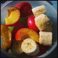 Fruit salad with shichimi togarashi - thanks, uk_cam! #fitocracy #fitnessfriendly