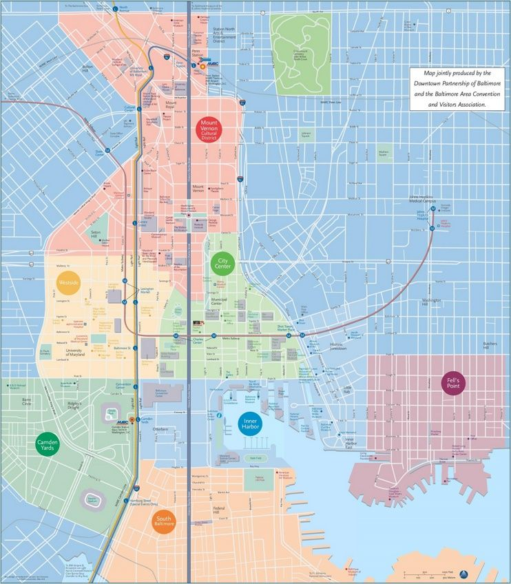 Baltimore tourist attractions map Adventure Zone Pinterest Usa