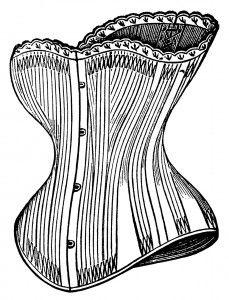 Victorian Corsets ~ Free Vintage Clip Art   Clip art vintage, Steampunk  images, Victorian corset