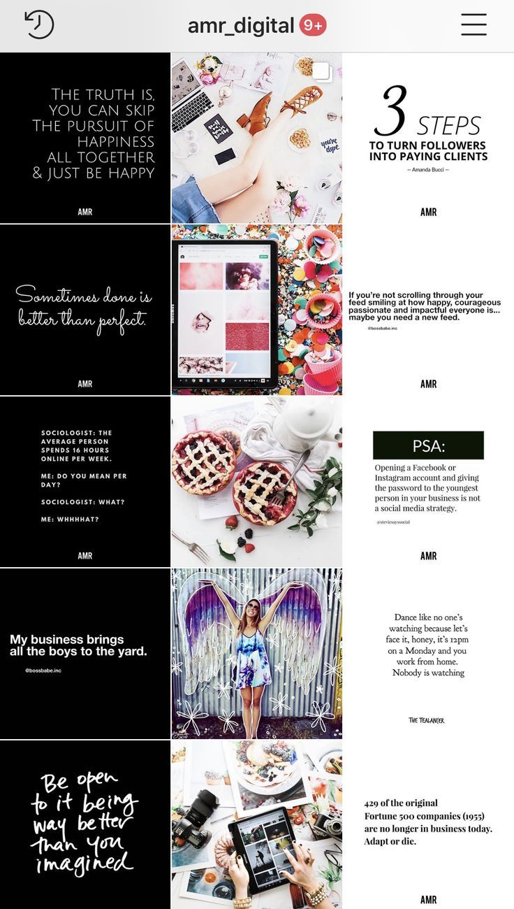 Designed by AMR Digital Marketing. Full service social media management agency. Instagram growth… (With images)   Instagram grid design ...