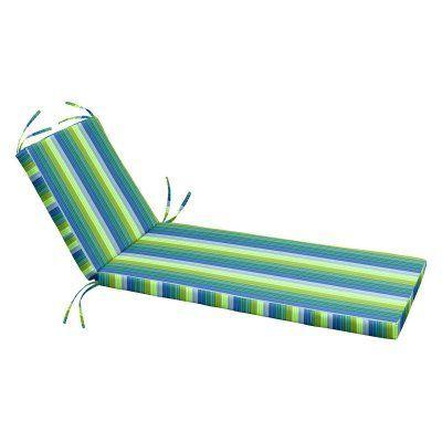 Cushion Source 80 X 25 5 In Striped Sunbrella Chaise Lounge Cushion