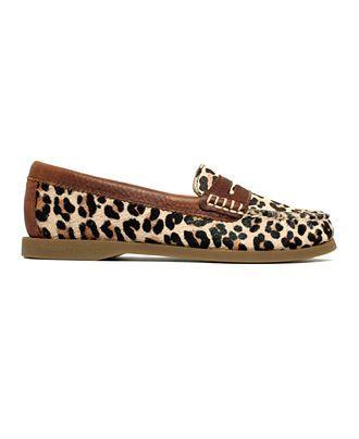 5b3de00df06 Sperry Top-Sider Women s Hayden Leopard Calfhair Penny Loafer Flats - Flats  - Shoes -