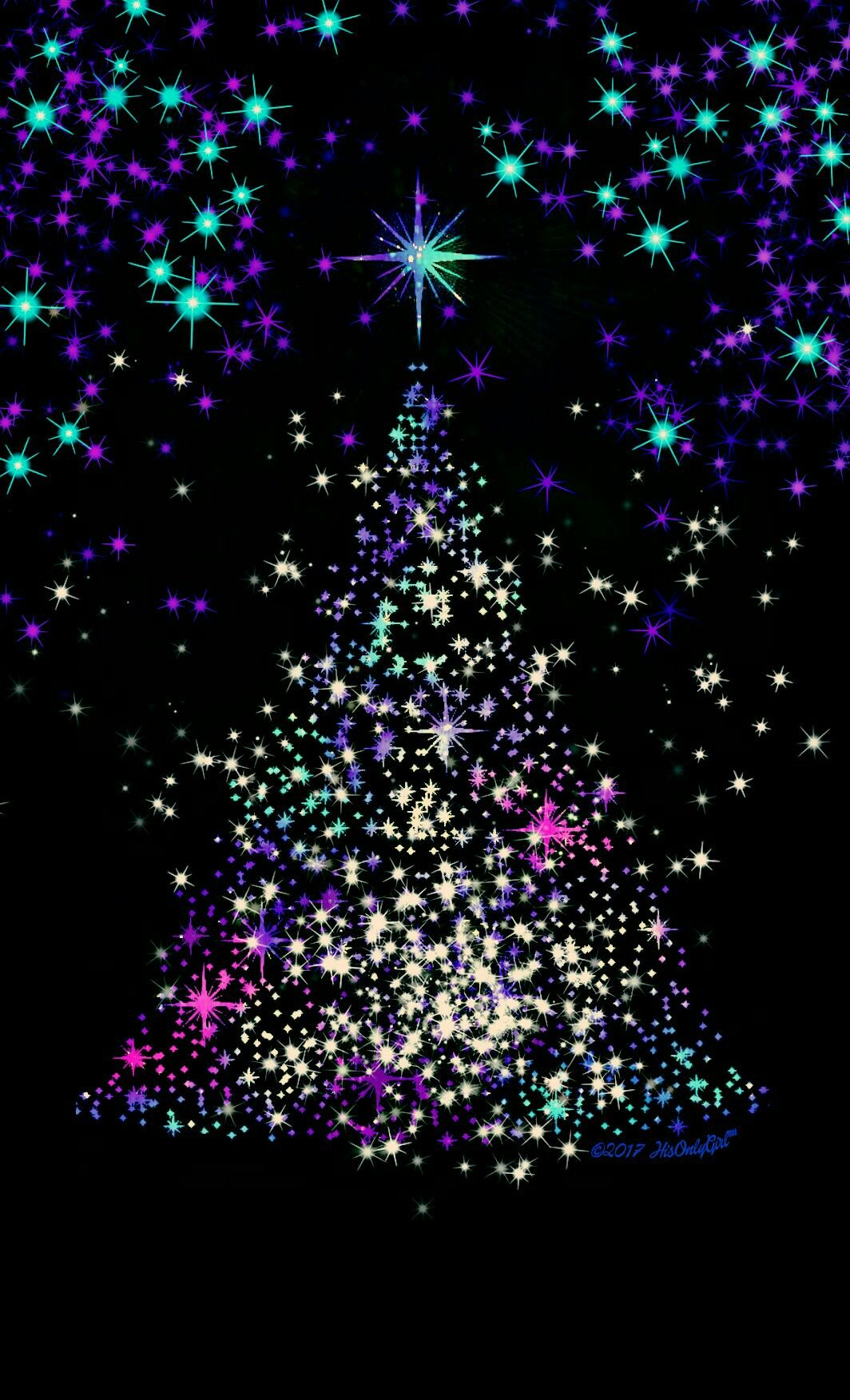 Christmas tree galaxy wallpaper i created for the app - Galaxy christmas wallpaper ...