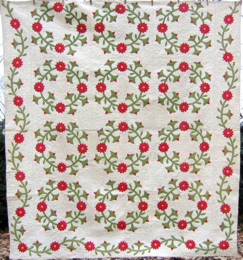 From Lancaster County, PA, this Rose of Sharon Applique quilt ... : rose of sharon quilt - Adamdwight.com
