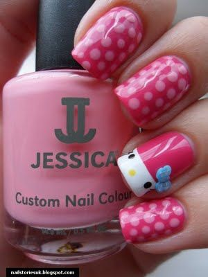 Nail Stories: Pink Wednesday!!! - Hello Kitty