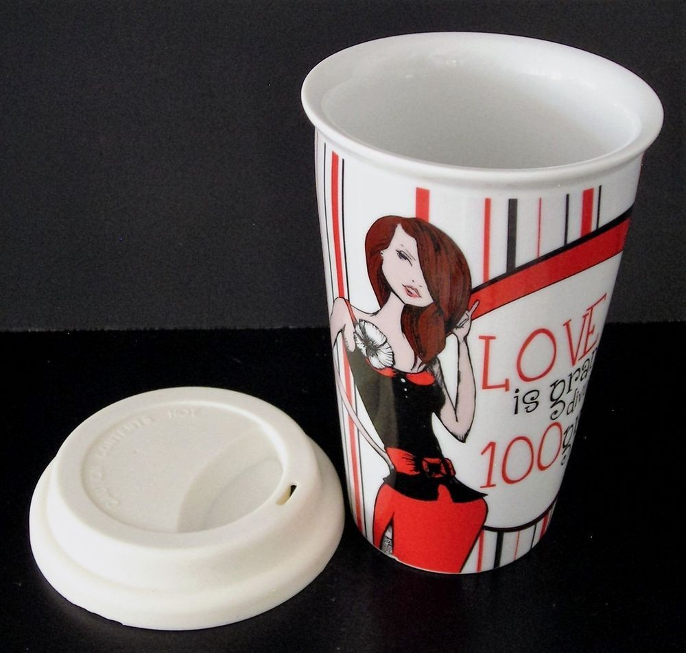 Love Is Grand Divorce Is 100 Grand Ceramic Coffee Cup Tumbler Travel Mug W Lid Ceramic Coffee Cups Mugs Coffee Cups