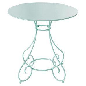 Table de jardin ronde métal verte - Mary | extérieur | Pinterest