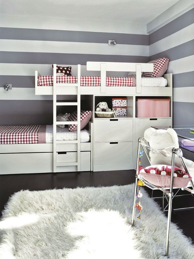 » Ριγέ παιδικό δωμάτιο για δυο. Άκρως λειτουργικό!