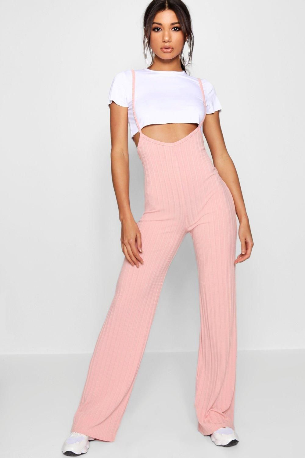 6752065bfd95 Click here to find out about the Crop T-Shirt Strappy Jumpsuit Co-ord Set  from Boohoo $20