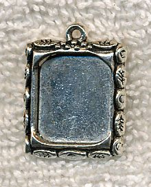 Decorative inlay frame or picture frame charm pendant create decorative bezel frames or picture frame charms bulk picture frames or inlay bezel frames with leaves around the border create your own one of a kind items mozeypictures Gallery