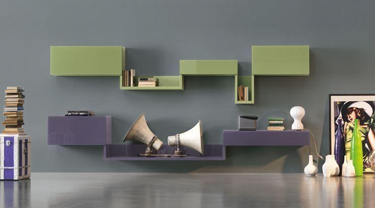 Idee mobili soggiorno Libreria Linea Lago | Soggiorni | Mobili ...
