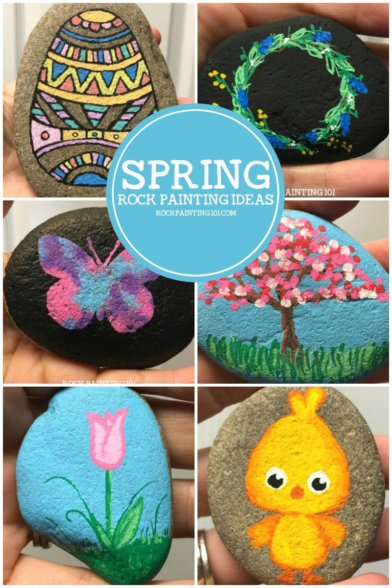 Rock decorating ideas Painted Rock Spring Rock Painting Ideas Simple Painted Rock Ideas That Are Perfect For Spring Crafting Hiding Gifting And Decorating Pinterest Amazing Spring Rocks That Will Make You Giddy The Best Rock