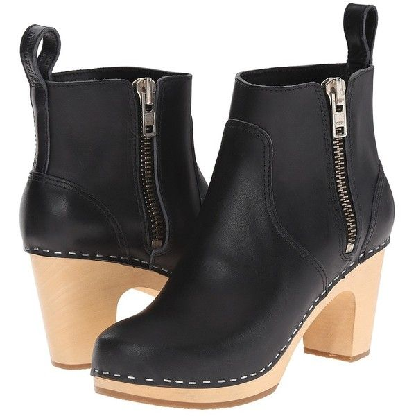 Swedish Hasbeens Zip It Super High (Black) Women's Zip Boots ($329) ❤