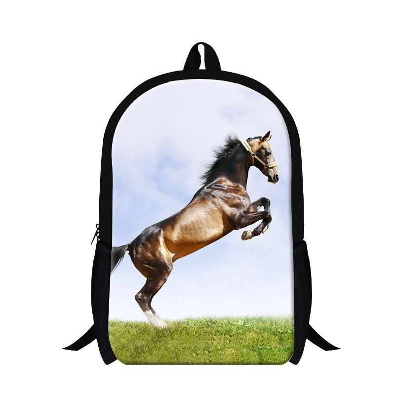 d73c687fd8 Dispalang 16-inch Supreme Customized Backpack Crazy Horse Children ...