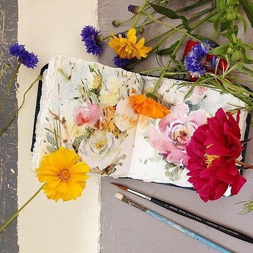 Watercolor Flowers by Maria Stezhko: