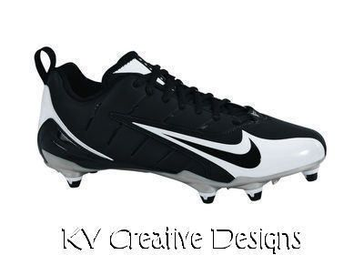 751dda297 NEW NIKE SUPER SPEED D Low Mens Boys Football Black White Cleats sz 15  Shoes