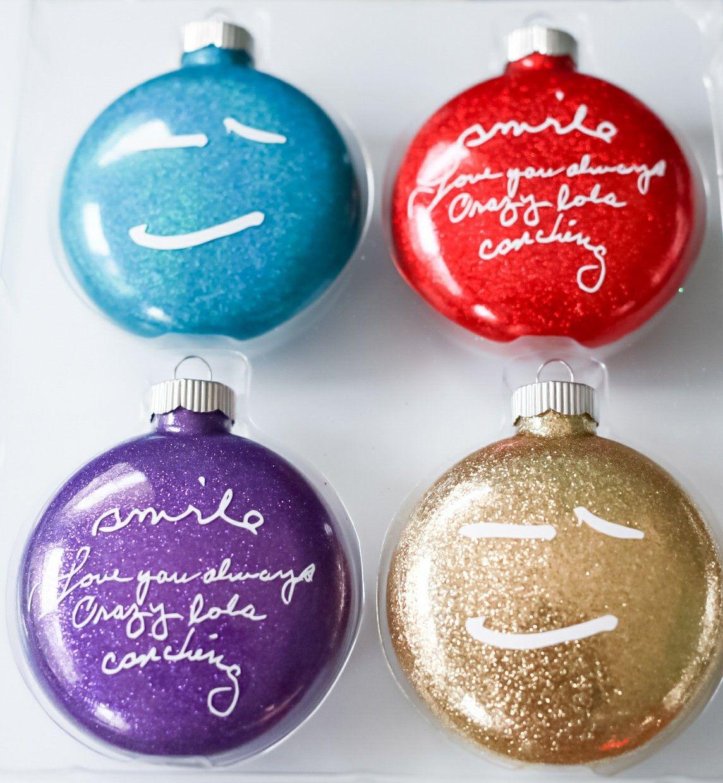 Diy Christmas Ornaments Glitter Ornaments Memorial Christmas Ornaments In Loving Memory Chris Old Birthday Cards Diy Christmas Ornaments Christmas Ornaments