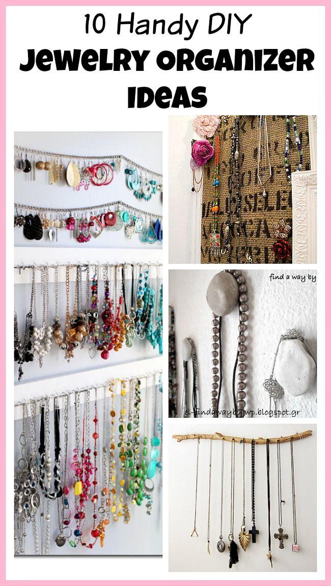 10 Handy DIY Jewelry Organizer Ideas | Messy House Solutions ...