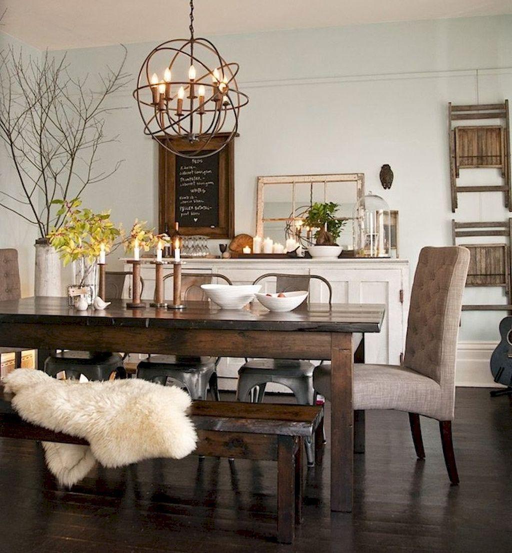 75 Modern Farmhouse Dining Room Decor Ideas images