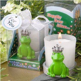 At Last I Found My Prince Collection Frog Votive Candle Favor