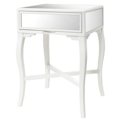 target mirrored accent table...makes things look more spacious - Target Mirrored Accent Table...makes Things Look More Spacious
