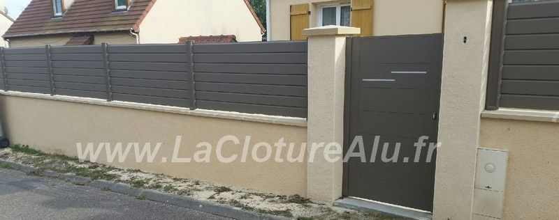 Cloture Alu Sur Muret Cloture Aluminium Cloture Maison Cloture Alu