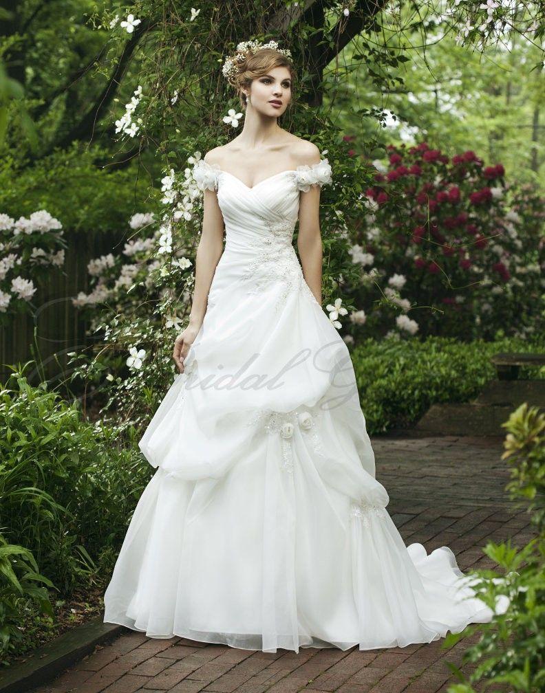 Ball gown offtheshoulder beaded bodice wedding dress wedding