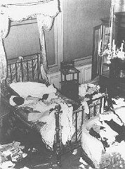 Not only were businesses and Synagogues vandalized during Kristallnacht but private Jewish homes as well, as seen in this picture.