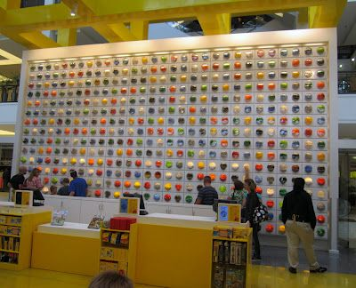 All the colors of Lego bricks at the Mall of America Lego store