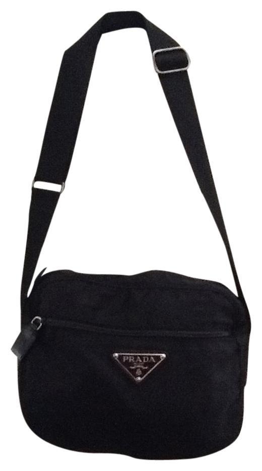 976b7953ff8d Get the trendiest Cross Body Bag of the season! The Prada Nylon And Leather Messenger  Black Cross Body Bag is a top 10 member favorite on Tradesy.