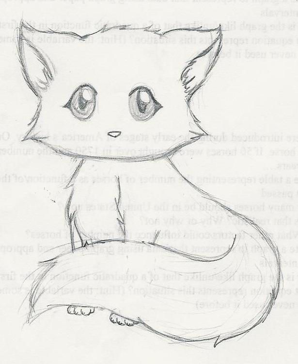 A Cute Kitten By An1m3ch1ck Animal Drawings Cute Drawings
