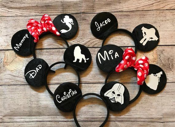 Can Be Personalised With Name. Mickey Minnie Head  Bands