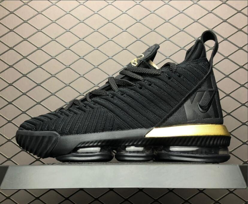 """separation shoes 2af2a 45063 Nike LeBron 16 """"I'm King"""" Black Gold To Buy BQ5970-007 ..."""