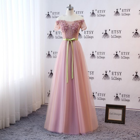 aa350bdd7dec7 2019 的 Celestial Floral Prom Dress Sexy Off Shoulder Evening Dress ...