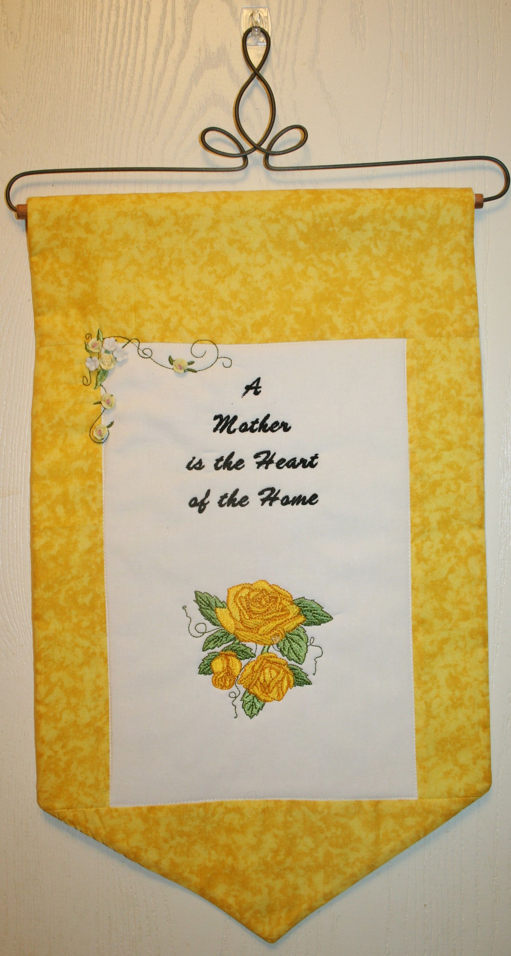 Items Similar To Yellow Roses, Door Hanger, Mothers Day Gift,
