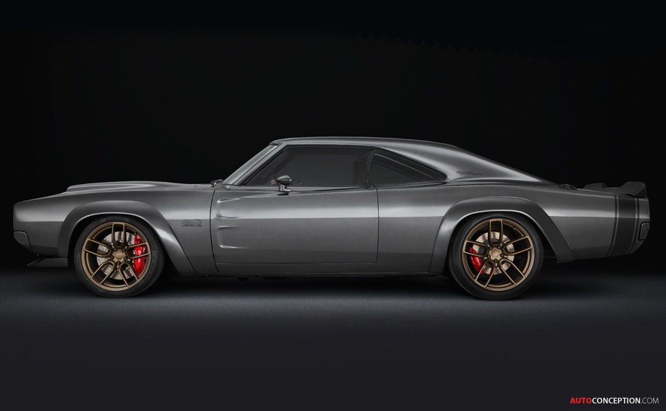1968 dodge super charger muscle car concept takes sema show by rh pinterest com