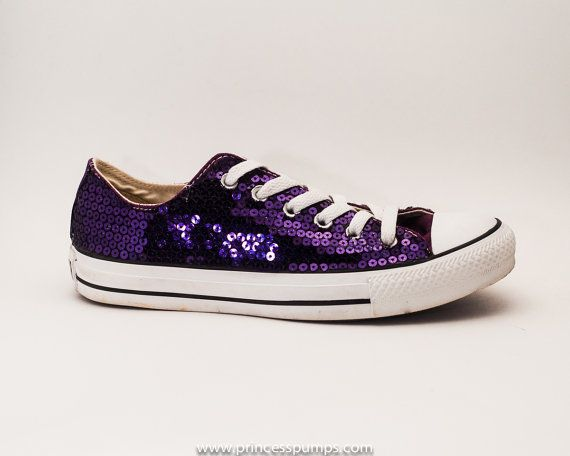 0f7afe585fb Purple Sequin Converse All Star Low Top Sneakers by princesspumps ...