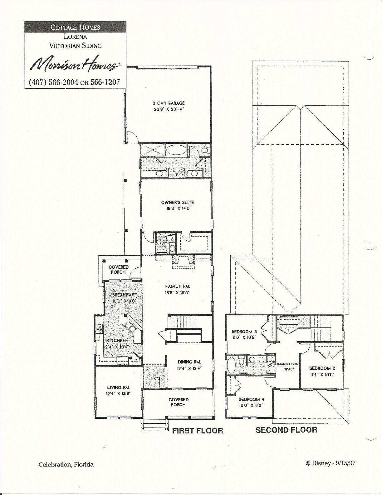 Lorena Victorian Siding Floor Plans In Celebration Fl Floor Plans Morrison Homes Model Homes