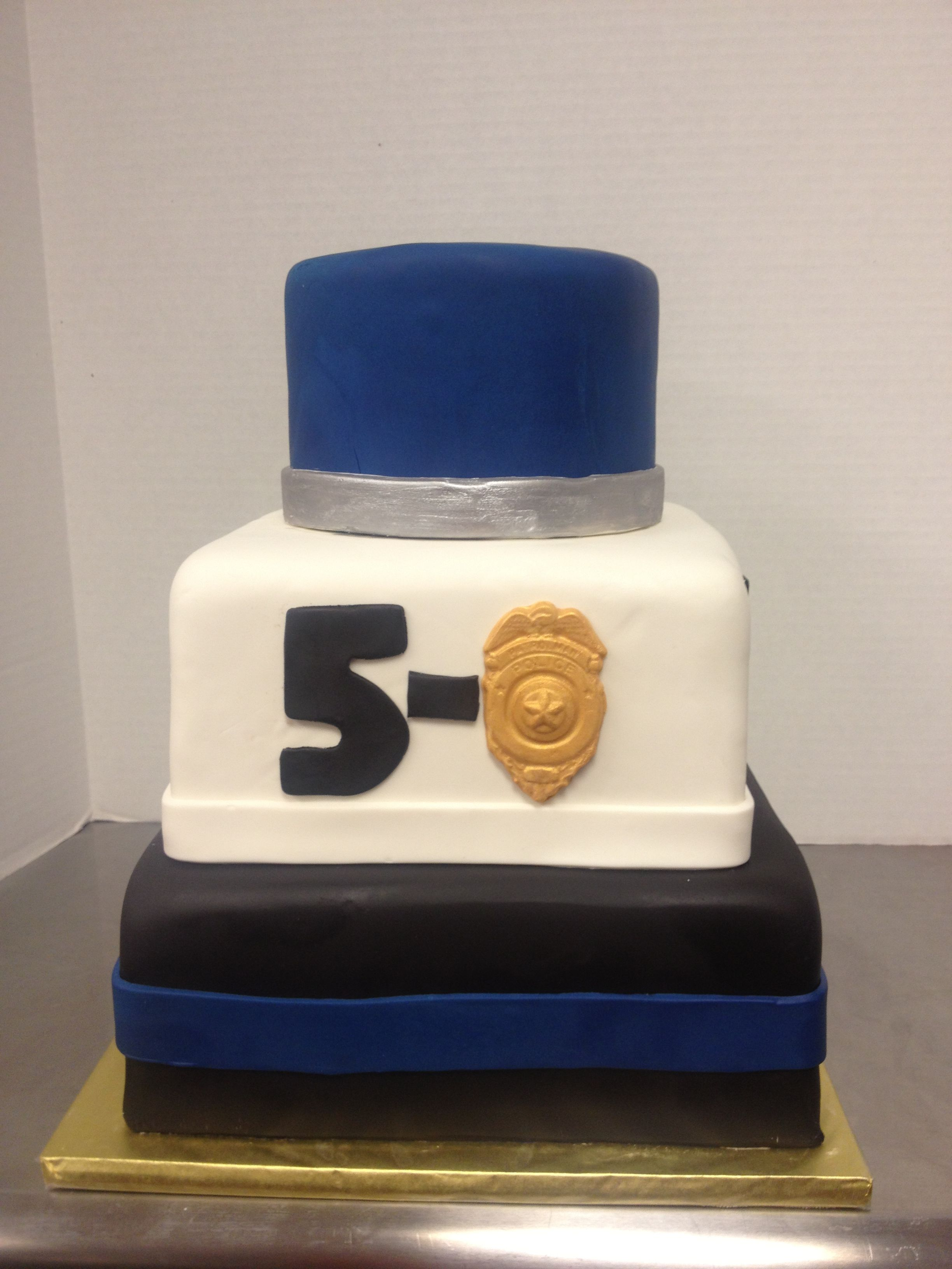 Birthday Cake For A 50 Year Old Policeman Birthday Cakes For