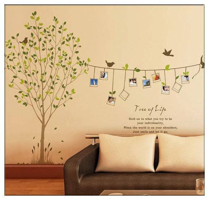Removable Photo Frame Tree Birds Words Art Mural Wall Vinyl Sticker ...