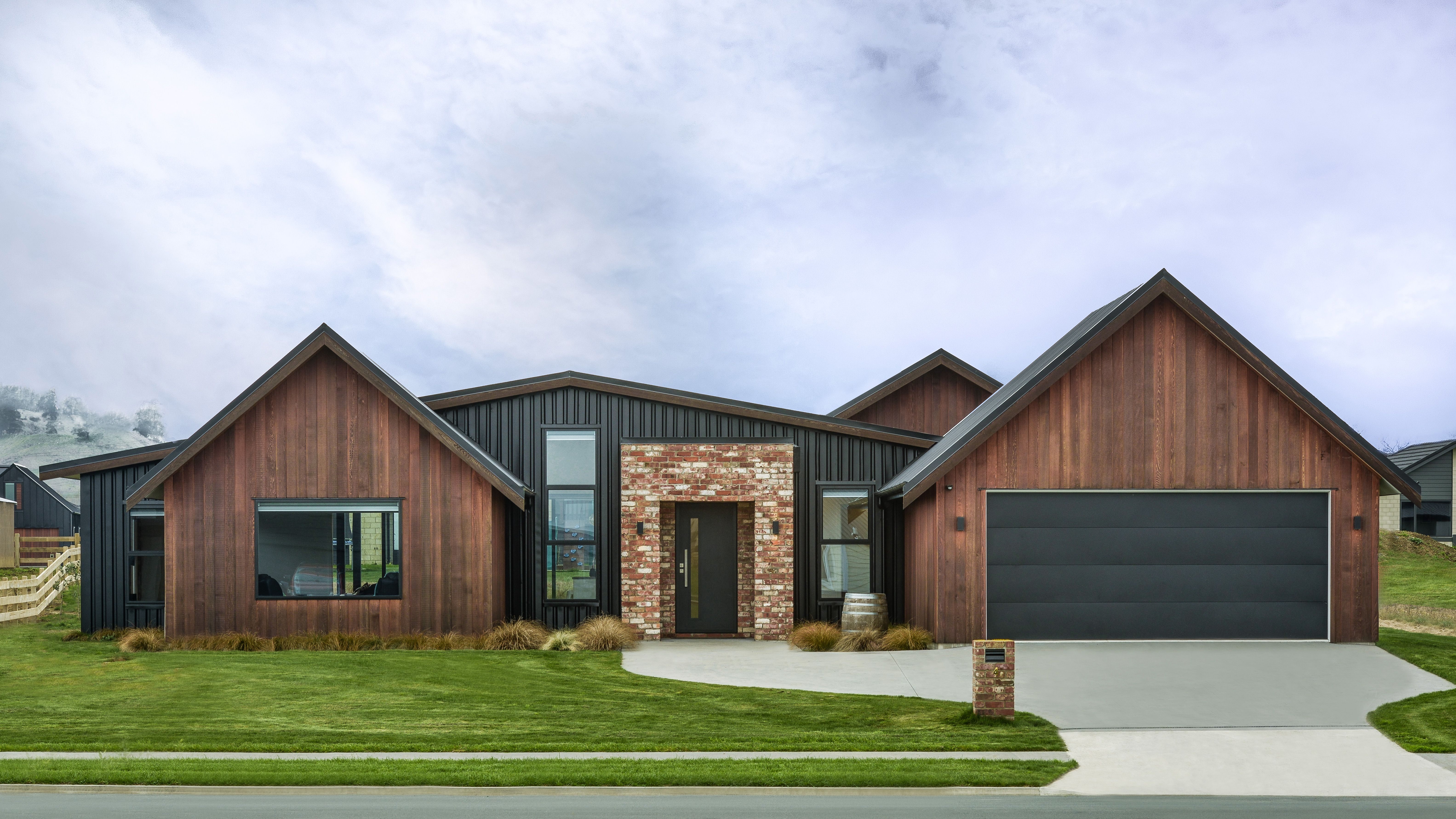 Brick cladding image by Turner Road Architecture on multi