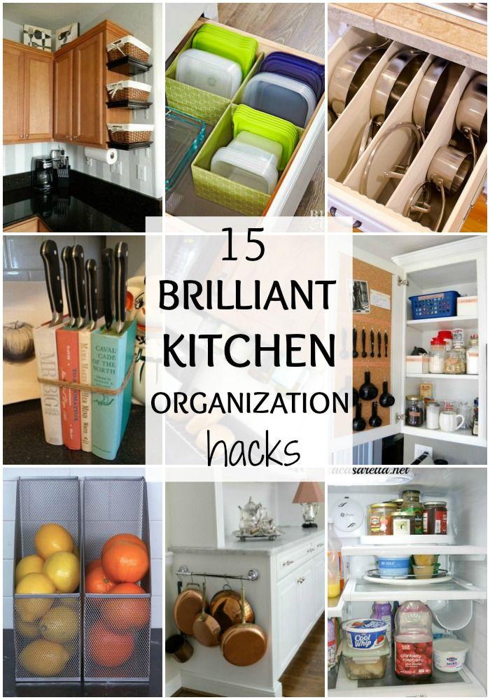 Brilliant Kitchen Organization Hacks Kitchen Hacks Organization Small Kitchen Organization Kitchen Drawer Organization