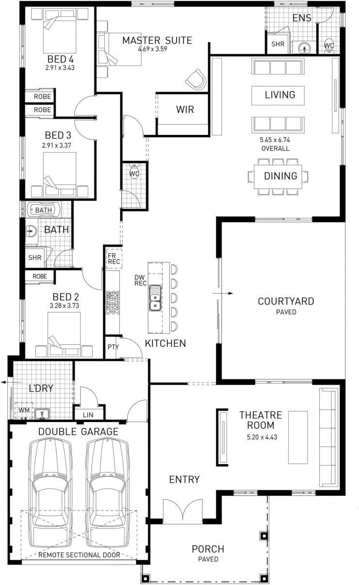 Image Result For House Plan 190m2 Ranch House Plans Architectural House Plans Unique House Plans